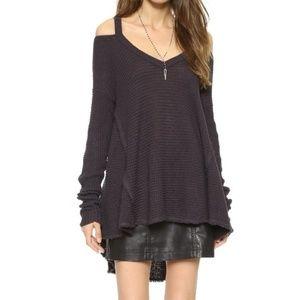 Free People Moonshine Cold Shoulder Sweater Medium